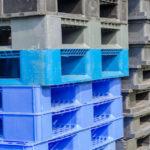 Stacks of Plastic Pallets